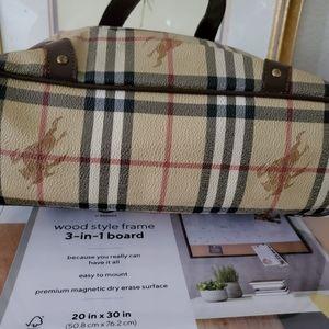 Burberry Bags - Burberry Haymarket Multicolor PVC Tote